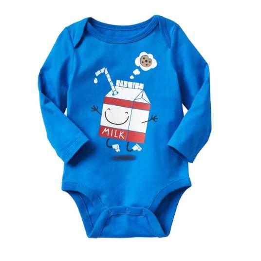 Body manga longa azul Milk - GAP  - Kaiuru Kids