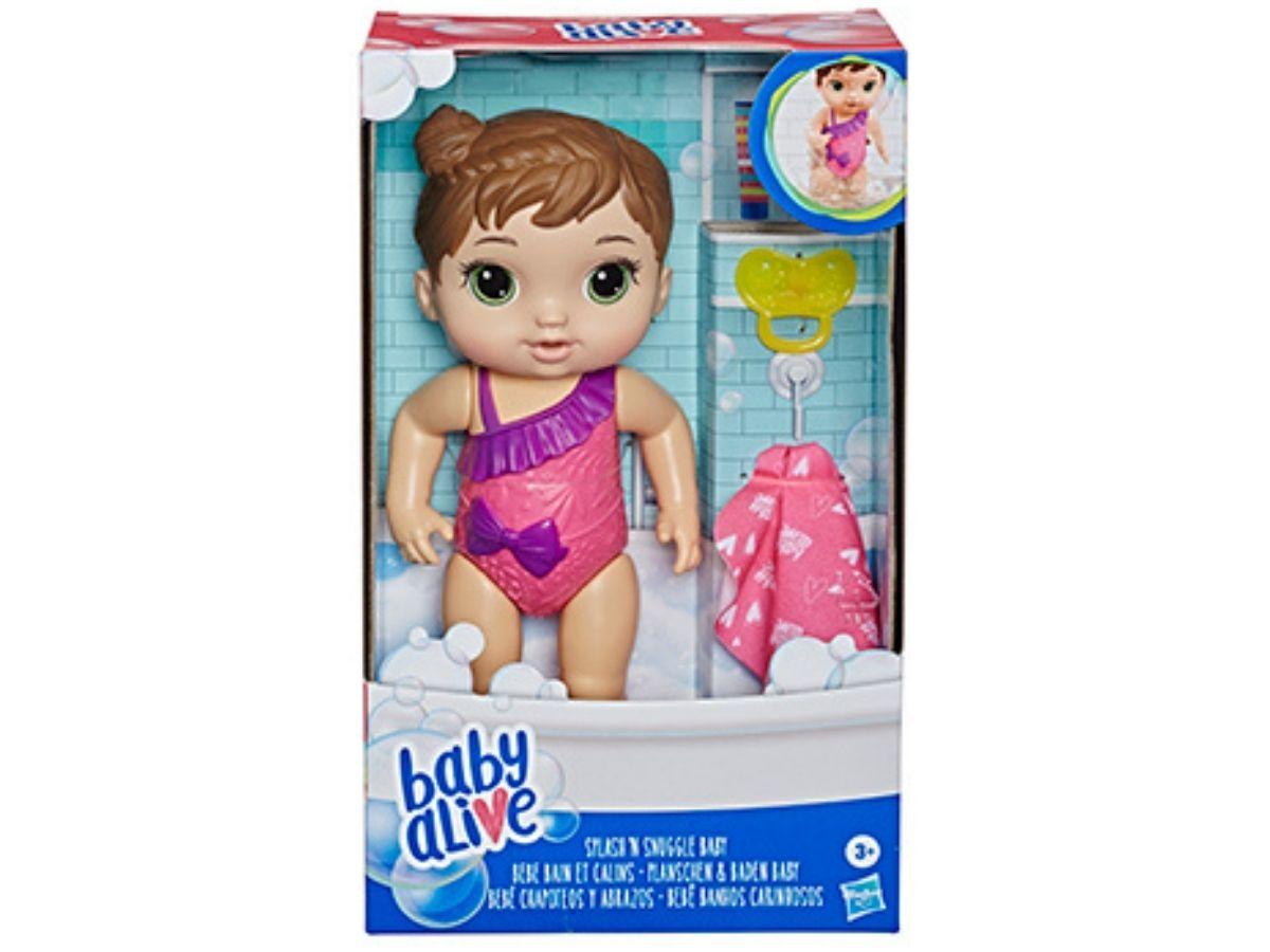 Boneca Baby Alive Banhos carinhosos morena 3+ anos - Hasbro  - Kaiuru Kids