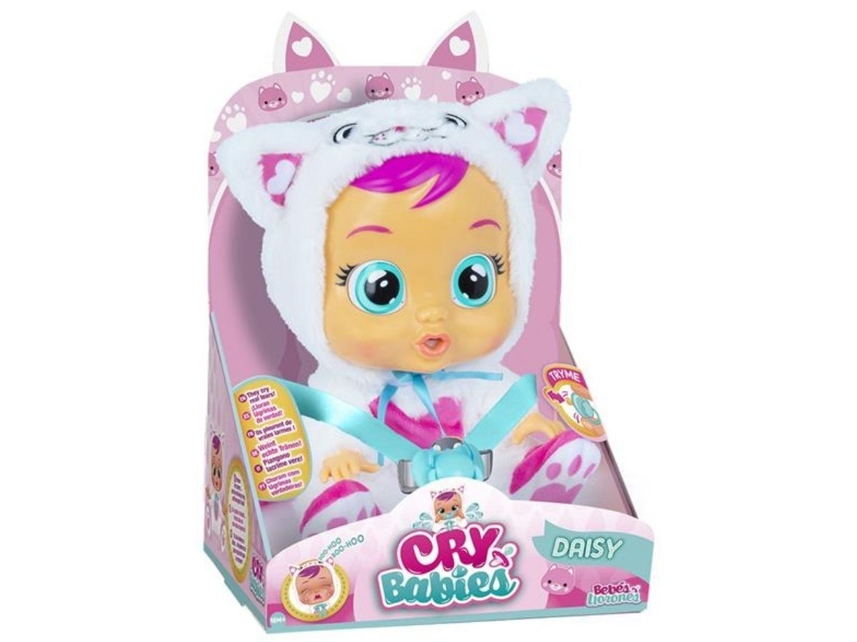 Boneca Crybabies Daisy com chupeta 4+ anos - Multikids  - Kaiuru Kids