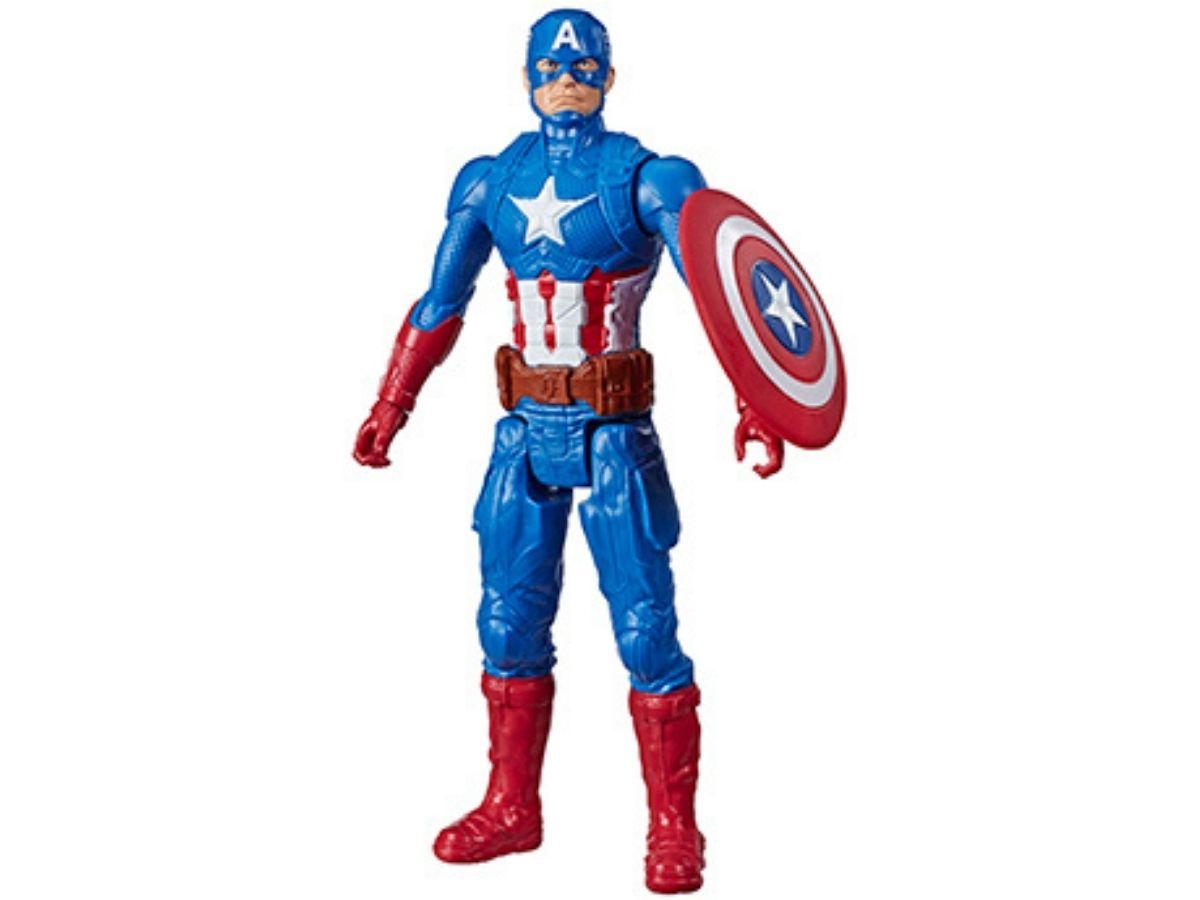 Boneco Titan Hero Marvel Capitão América 4+ anos - Hasbro  - Kaiuru Kids