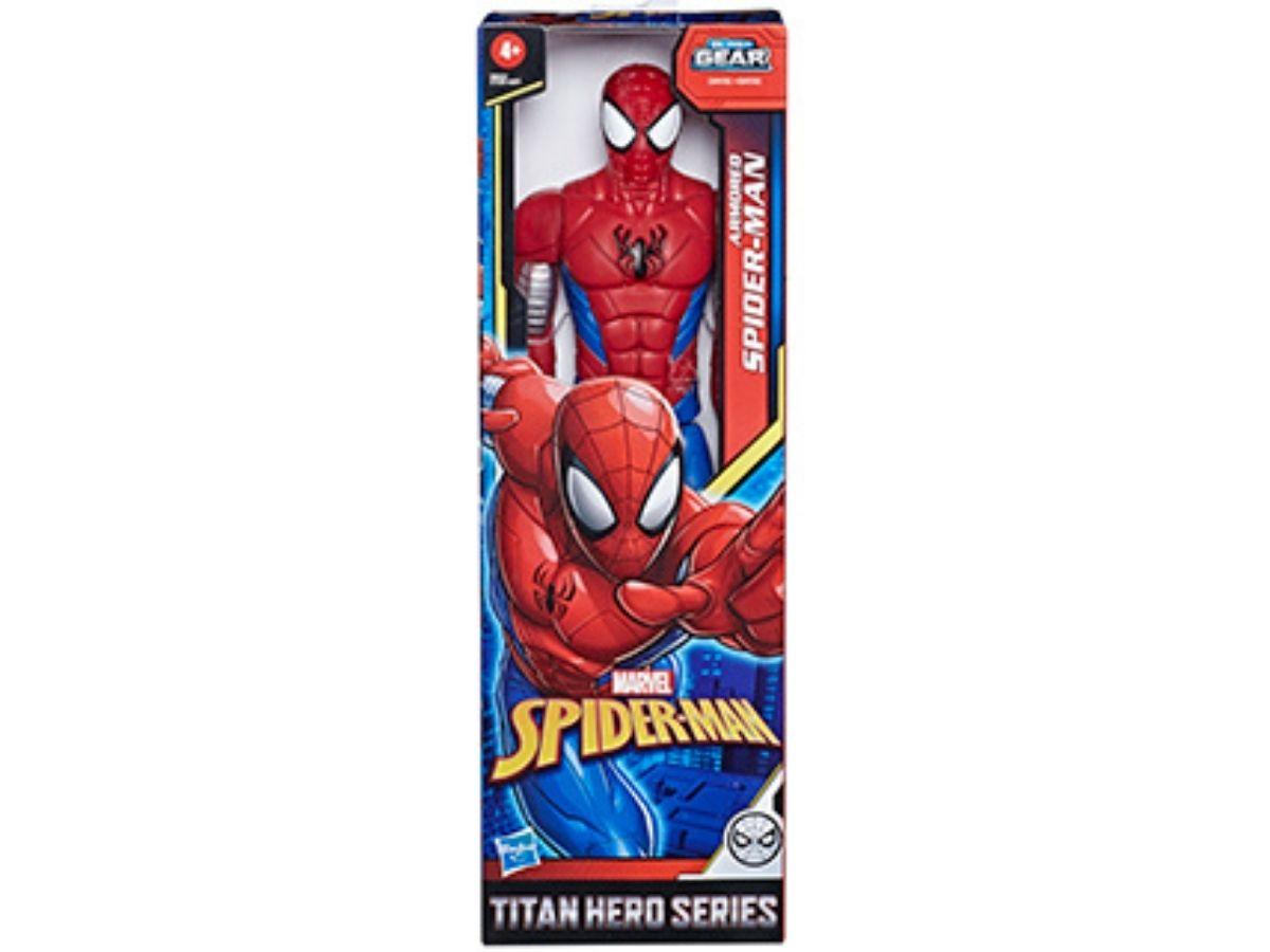 Boneco Titan Hero Marvel Spider Man Warriors 4+ anos - Hasbro  - Kaiuru Kids