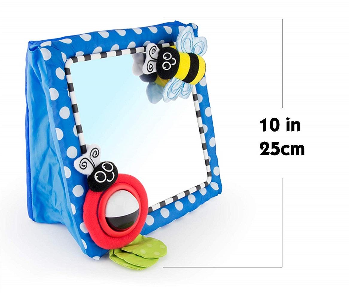 Brinquedo espelho de piso com texturas 0+ meses - Sassy  - Kaiuru Kids