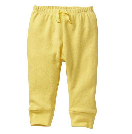 Calça de malha amarela - GAP  - Kaiuru Kids