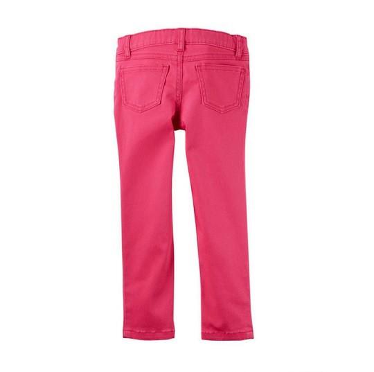 Calça de sarja rosa skinny - Carter