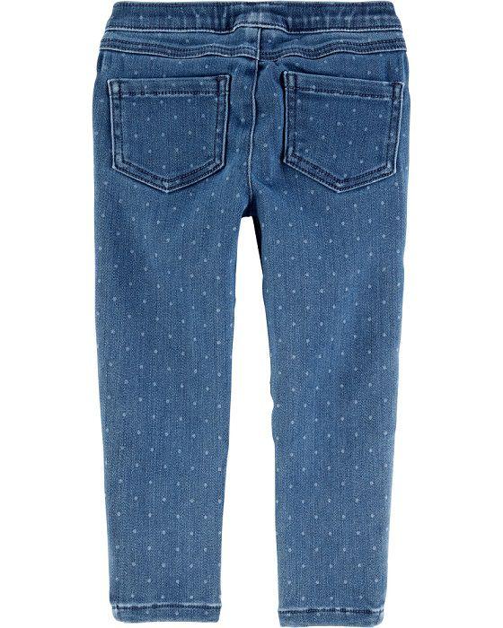 Calça jeans jegging azul poás - Carters  - Kaiuru Kids