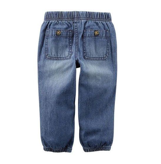 Calça jeans jogger com fivela - Carter