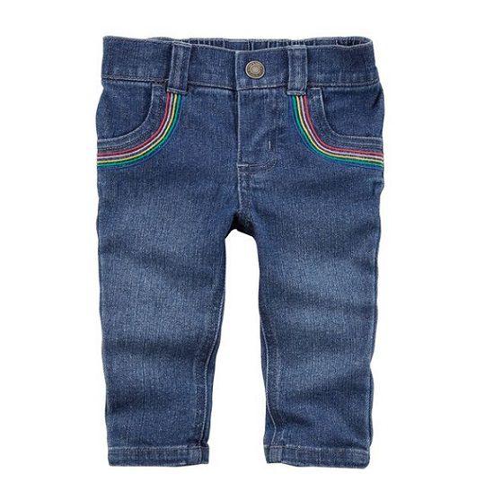 Calça jeans skinny arco-íris - Carter