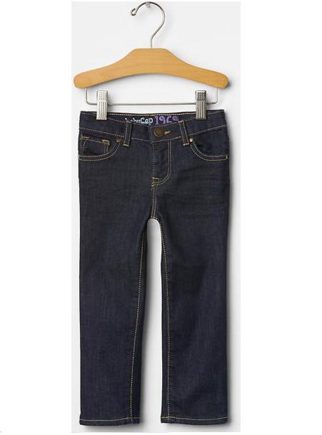 Calça jeans skinny escura - GAP  - Kaiuru Kids