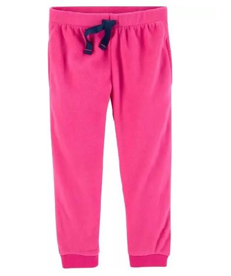 Calça jogger de fleece rosa - Carter