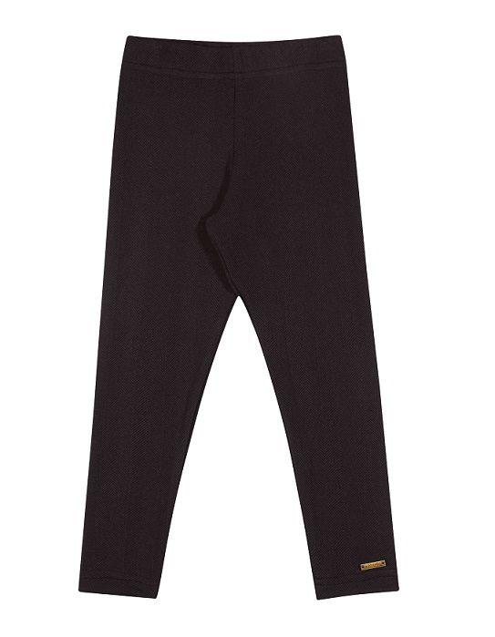 Calça legging athletic flanelada preta - Vrasalon  - Kaiuru Kids