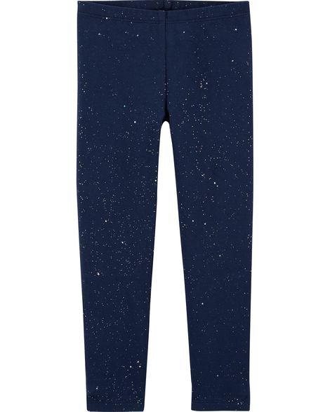 Calça legging azul com glíter - OshKosh  - Kaiuru Kids