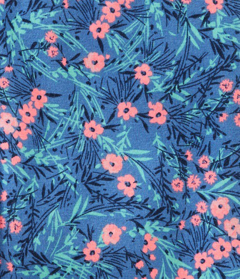 Calça legging azul floral - OshKosh  - Kaiuru Kids