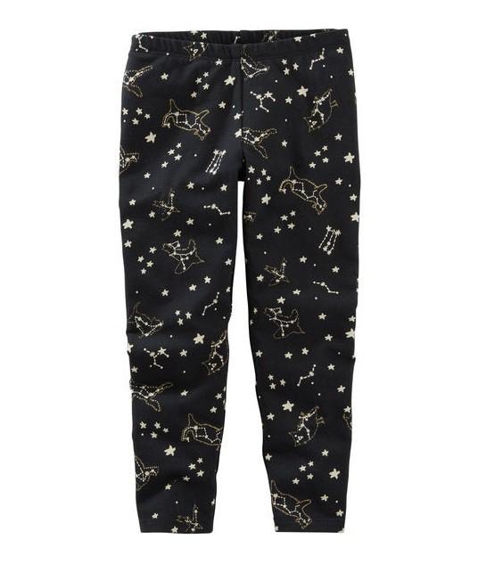 Calça legging preta estrelas - OshKosh  - Kaiuru Kids