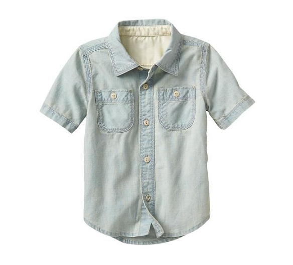 Camisa jeans com bolsos - GAP  - Kaiuru Kids