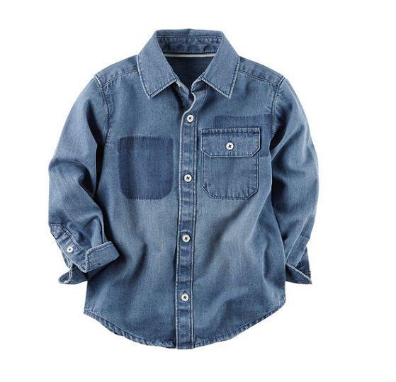 Camisa jeans manga longa - Carter