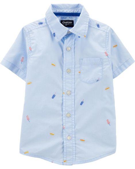 Camisa manga curta Picnic - OshKosh  - Kaiuru Kids