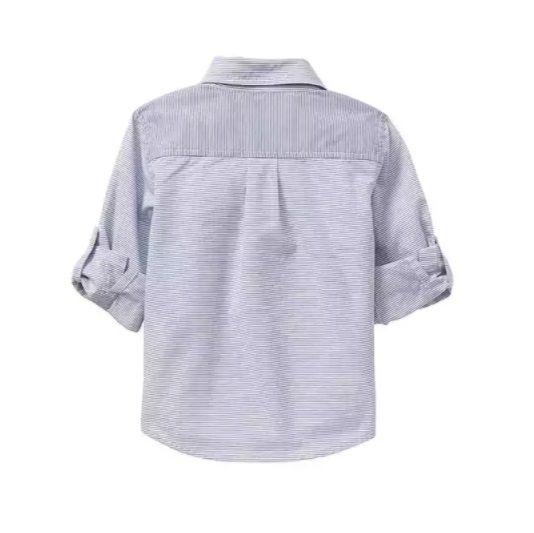 Camisa manga longa azul listrada - GAP  - Kaiuru Kids