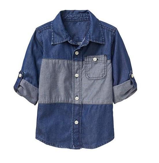Camisa manga longa colorblock - GAP  - Kaiuru Kids