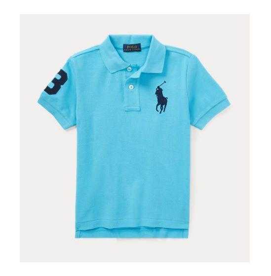 Camisa polo Big Pony azul - Ralph Lauren  - Kaiuru Kids