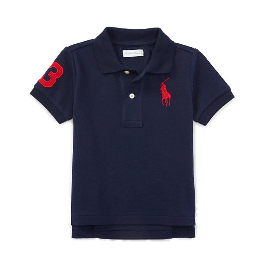 Camisa polo Big Pony preta - Ralph Lauren  - Kaiuru Kids