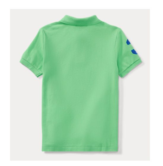 Camisa polo Big Pony verde - Ralph Lauren  - Kaiuru Kids