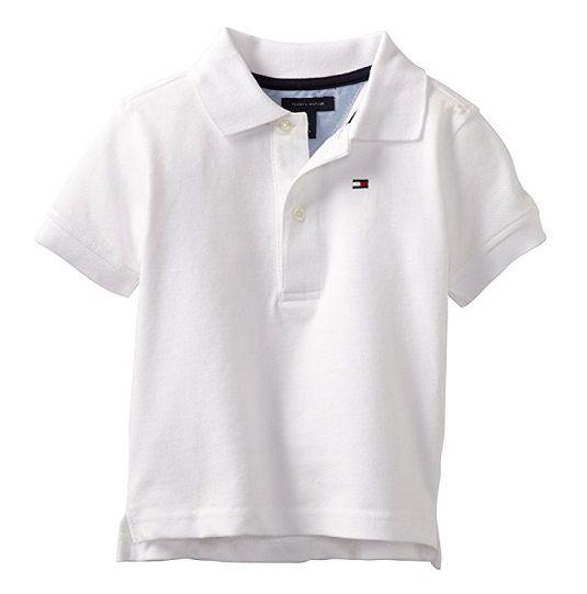 Camisa polo branca - Tommy Hilfiger - Kaiuru Kids - roupas e ... c060648c094c9