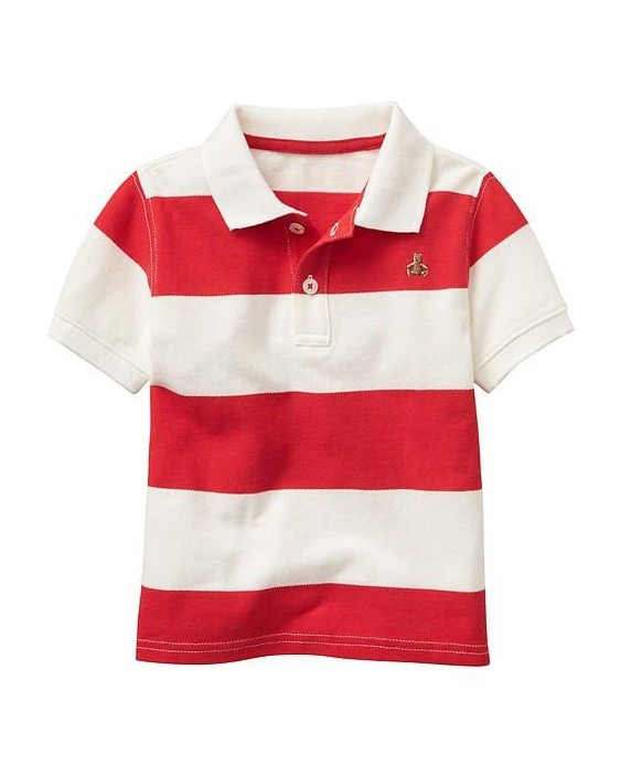 Camisa polo listrada vermelha - GAP  - Kaiuru Kids