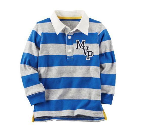Camisa polo manga longa Rugby - Carter s - Kaiuru Kids - roupas e ... c1271af65df
