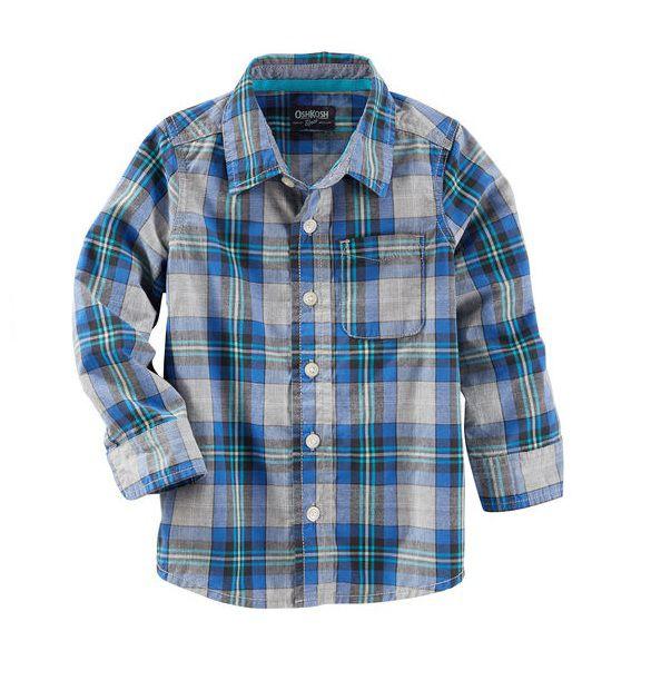 Camisa xadrez manga longa - OshKosh - Kaiuru Kids - roupas e ... af99e34adb71f