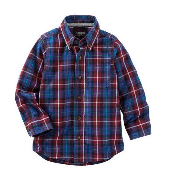 6c79c3494 Camisa xadrez manga longa - OshKosh - Kaiuru Kids - roupas e ...