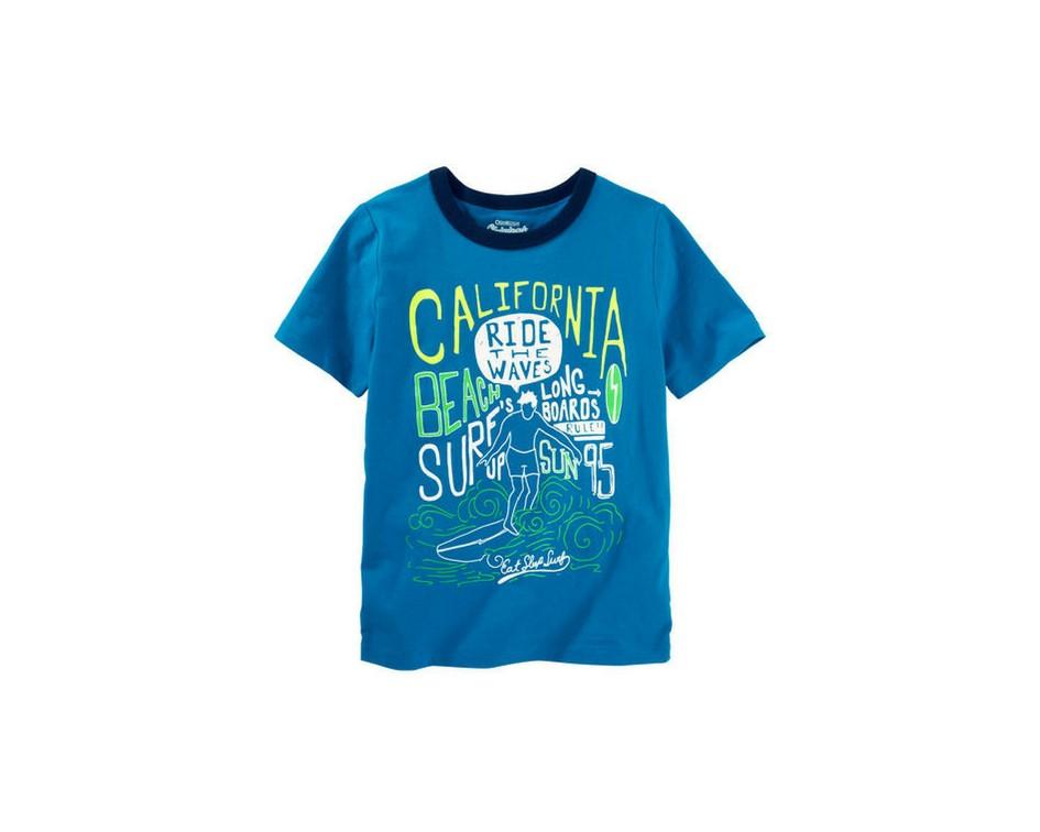 Camiseta azul California - OshKosh  - Kaiuru Kids