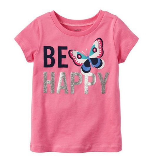 "Camiseta borboleta ""BE HAPPY"" - Carter"