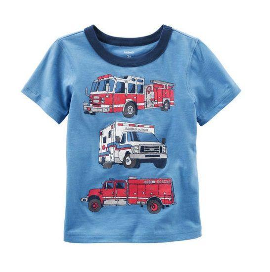 Camiseta caminhões bombeiro - Carter