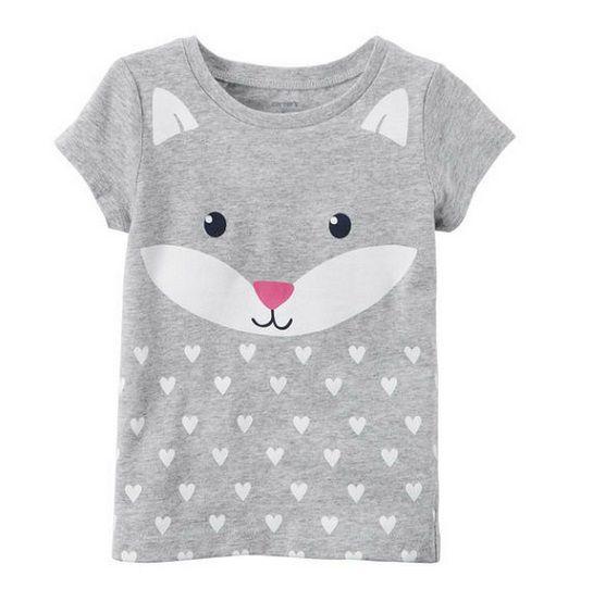 Camiseta cinza gatinha - Carter