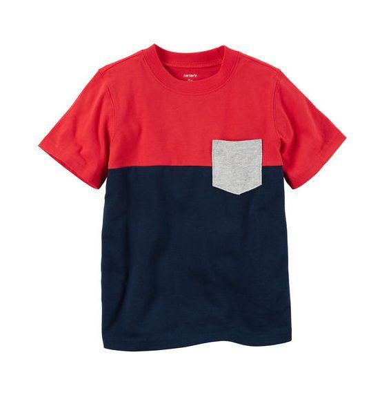 Camiseta colorblock com bolso - Carter
