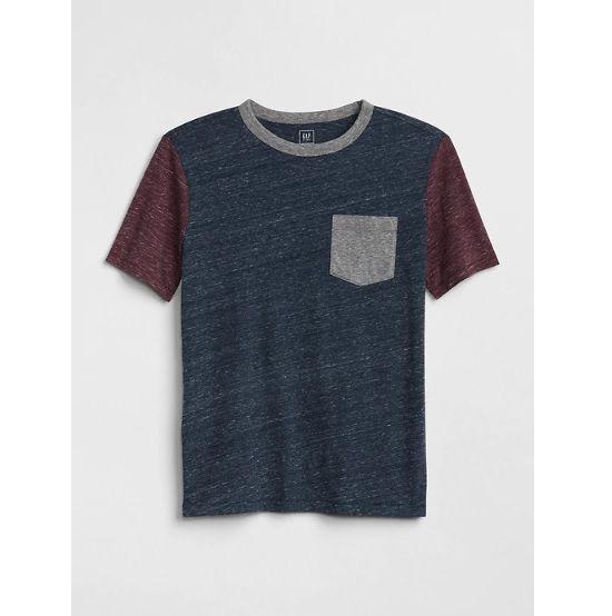 Camiseta colorblock mesclada - GAP  - Kaiuru Kids