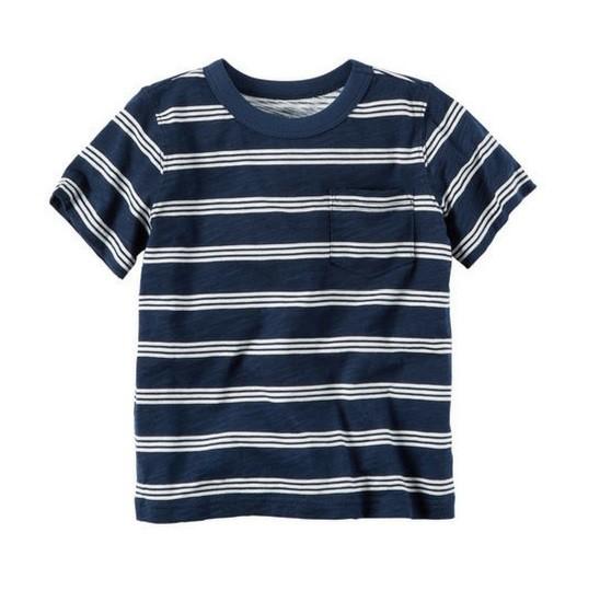 Camiseta listrada com bolso - Carter