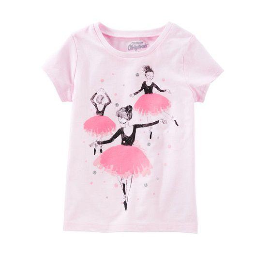 Camiseta manga curta Bailarinas - OshKosh  - Kaiuru Kids