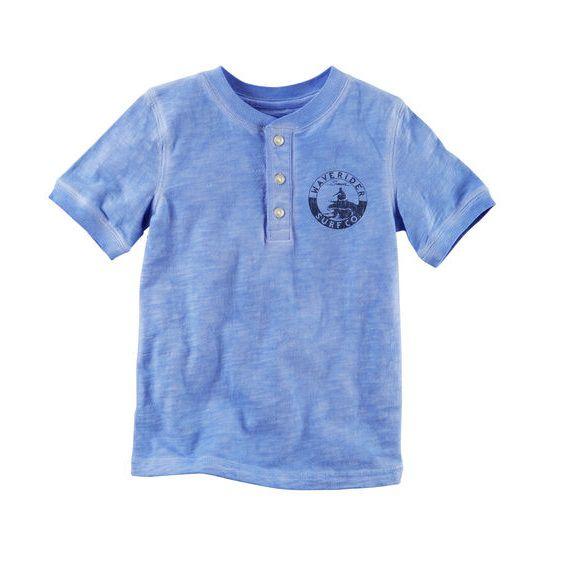 Camiseta manga curta henley  - Carter