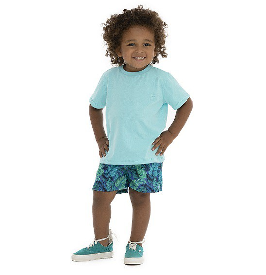 Camiseta manga curta lisa - Pega Mania  - Kaiuru Kids