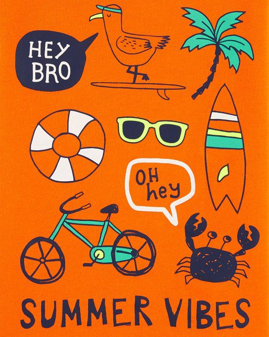 Camiseta manga curta Summer vibes - Carters  - Kaiuru Kids