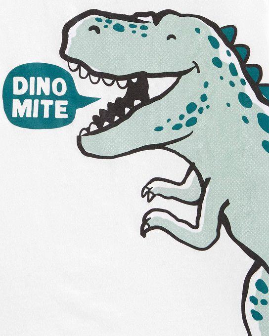 Camiseta manga curta T-Rex Dinomite - Carters  - Kaiuru Kids