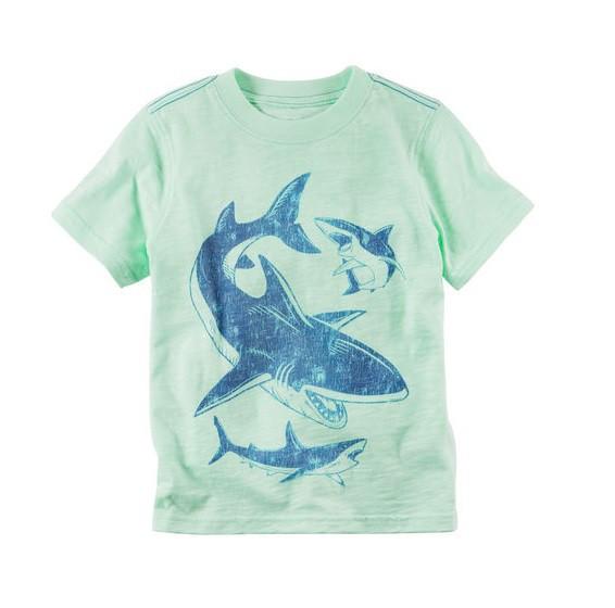 Camiseta manga curta Tubarões - Carter