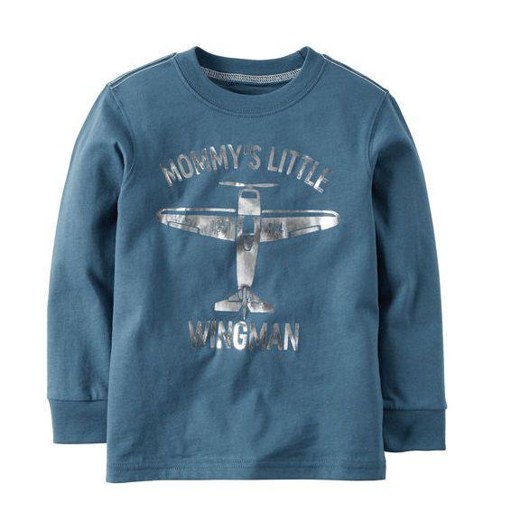 Camiseta manga longa avião - Carter