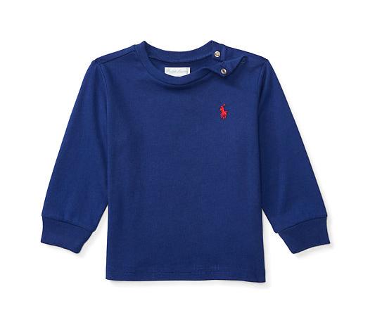 Camiseta manga longa azul - Ralph Lauren  - Kaiuru Kids