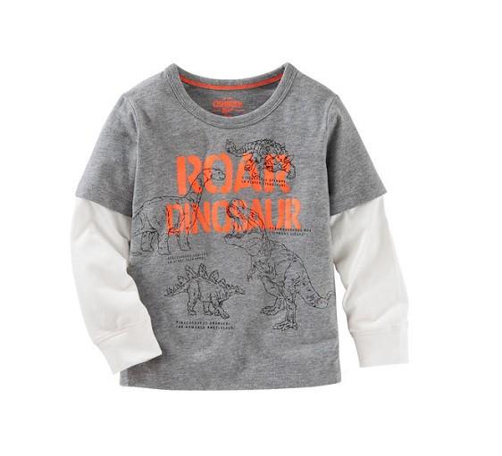 Camiseta manga longa Dinossauros - OshKosh  - Kaiuru Kids