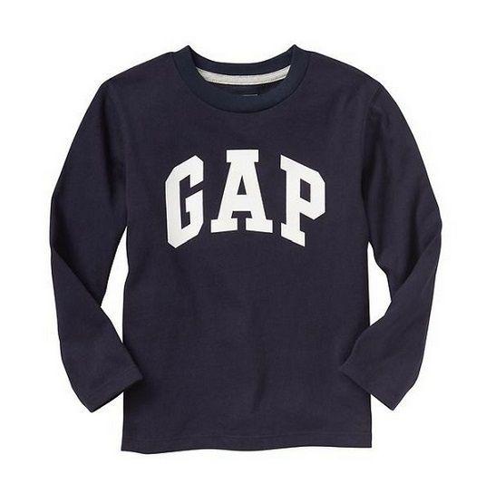 Camiseta manga longa marinho - GAP  - Kaiuru Kids