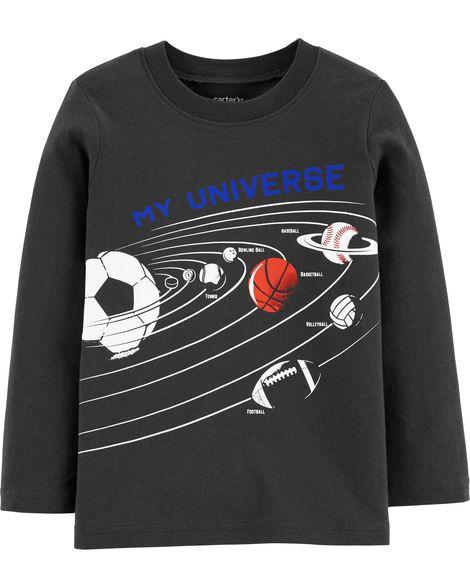 Camiseta manga longa universo esportivo - Carter