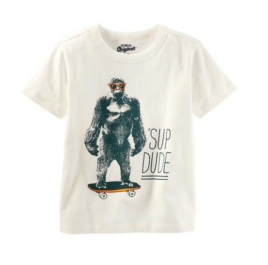 Camiseta off white gorila - OshKosh - Kaiuru Kids - roupas e ... 311cb25b89b8c
