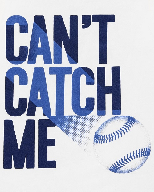 Camiseta regata branca Baseball - Carters  - Kaiuru Kids